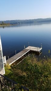 L shaped dock suitable for 25' boat