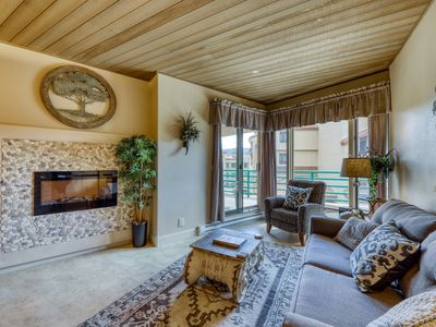 Photo for NEW LISTING! Ski-in/out condo w/shared pool & hot tub, mountain & resort views