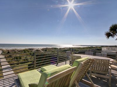 Photo for Beautiful Oceanfront Home on Quiet Street! Community Pool & Tennis!!