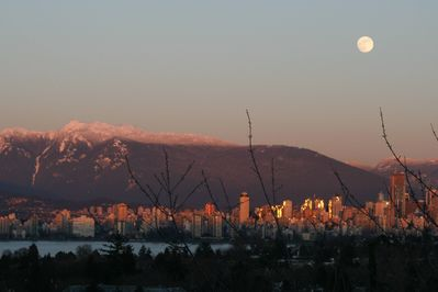 Moonlight View from the Home on the Hill, Vancouver, Canada