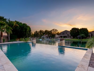 Photo for Lakeside Property w Infinity Pool and Hot Tub