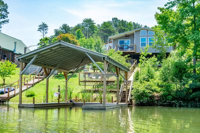 Home and private dock from the water