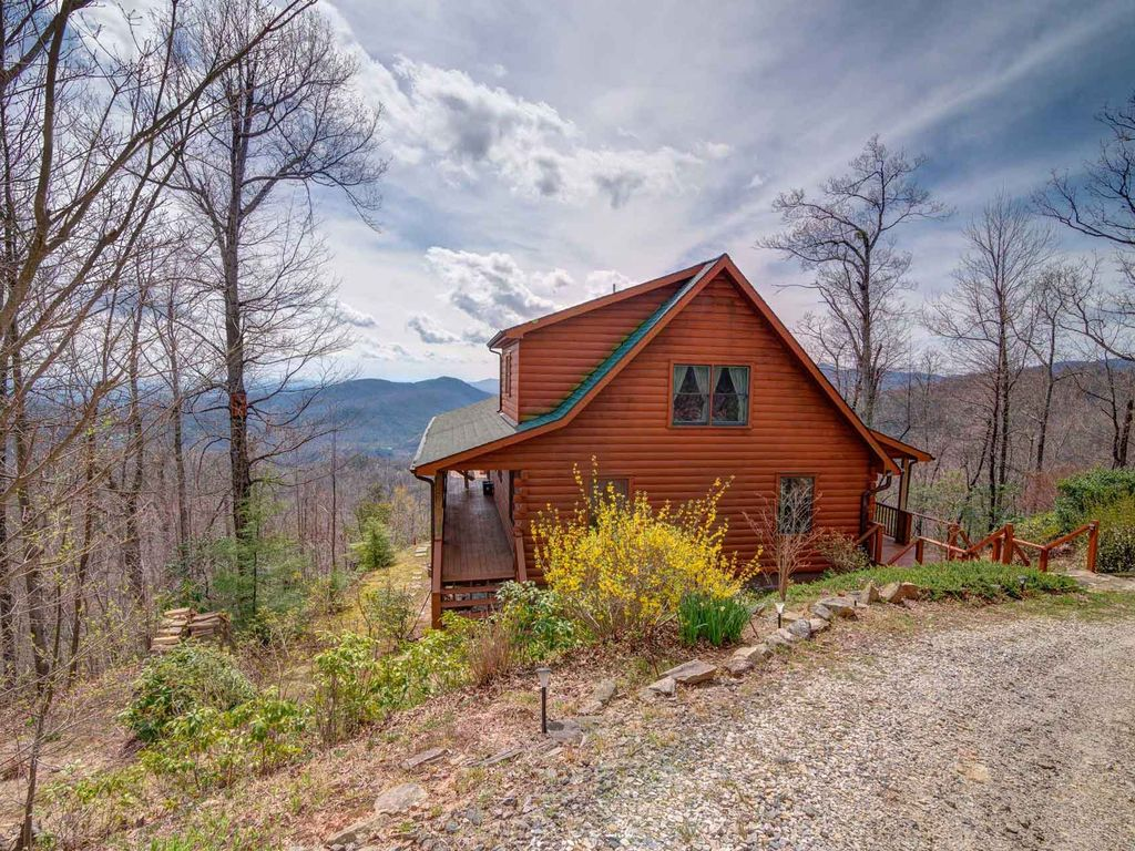 Cool view cabin mountain views hot tub cleaning fee incl for Cabin in north carolina mountains