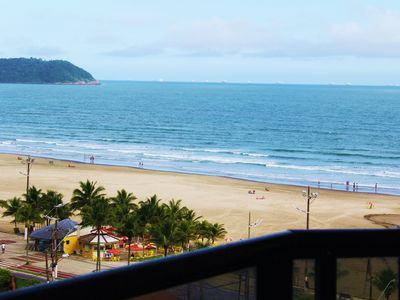 Photo for PRAIA GRANDE - Aviação - 3 bedroom apartment with wide sea view