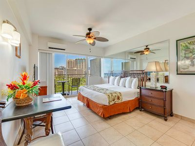 "Photo for Say ""Aloha"" to Ocean Views, Free WiFi, Modern Kitchenette–Waikiki Shore #1214"