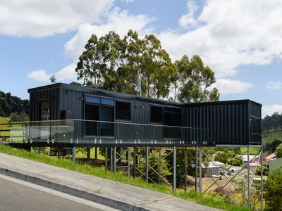 Photo for Brand new elevated container house with stunning rural and ocean views