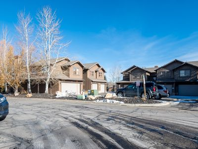 Photo for Beautiful End Unit Townhouse with Private Hot Tub, On the Bus Line to Ski Lifts