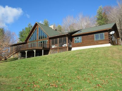Photo for Exquisite Log Home with views near Woodstock, Vt.