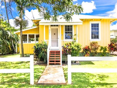 Photo for Delightfully Renovated Plantation Cottage Steps from Poipu Beach and Brennecke's