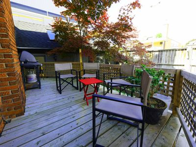 Rear deck sitting area with barbeque