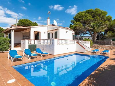 Photo for Sea view villa close to town with private pool, BBQ and free Wi-Fi