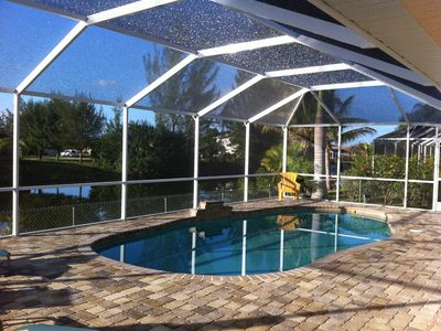 Photo for Southern exposure Canal Home with salt water solar heated Pool !!!