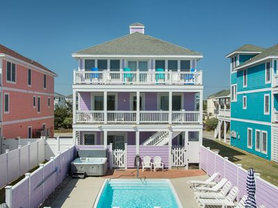 Photo for Celestial Shore: Dog friendly, private walkway to the beach, private pool and hot tub.