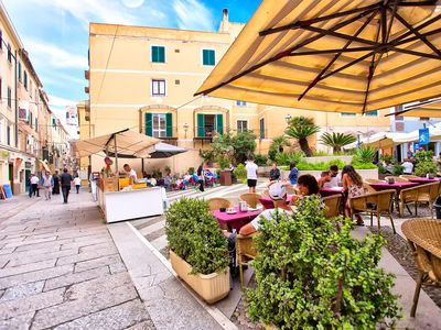 Photo for In Alghero in the historic center of the square, large and bright apartment