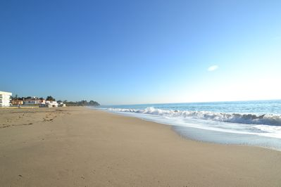 Playa Riviera, about 800 metres with walking access is a long sand beach.