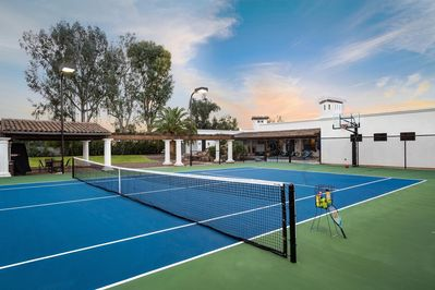 Brand new tennis/pickle ball and basketball court