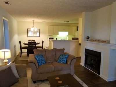 Open living dining area