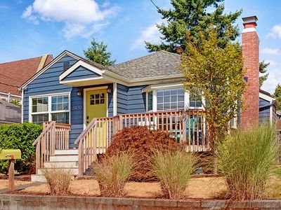 Photo for Darling West Seattle Home, the Alki Beach House, One Block from the Beach! Great location!