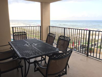 Photo for Beautiful Condo on the 2nd Floor! Huge Balcony Overlooking the Gulf and Water Park!