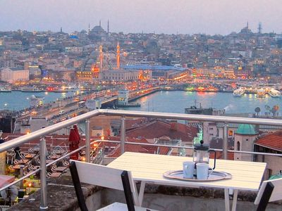 Photo for Airy style, amazing terrace views in Galata!