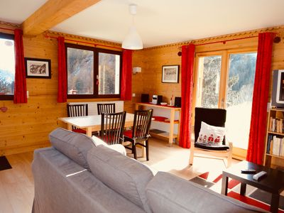 Photo for La Giettaz in Aravis apartment of 45m2 ds chalet for 4 people and private garden