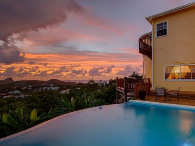 Photo for Villa Chloesa- Stunning 3 bedroom villa with sea views in St Lucia