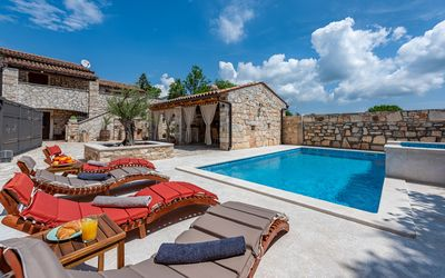 Photo for Istrian stone house with tavern and a swimming pool with jacuzzi