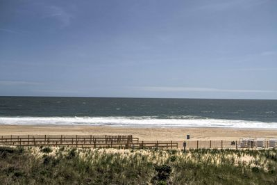 This condo places you steps from the sandy shores.