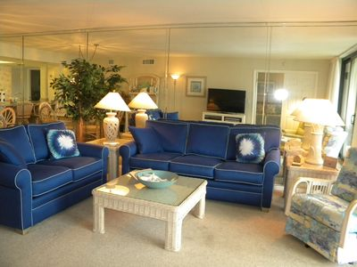 Photo for Compass Point #182 Beautiful Gulffront Condo, 2 bedroom + Den, weekly rental, pool and tennis
