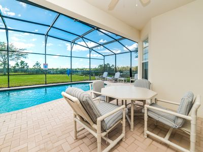 Photo for South Facing Private Pool, Minutes From Disney, Free Resort Amenities!!