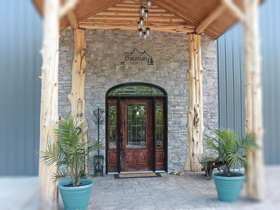 Photo for Private,  pool, spa, sand volleyball, close to wineries, pool table, horseshoes