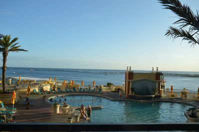 Beautiful view from the Fitness Room of the Pool & Gulf