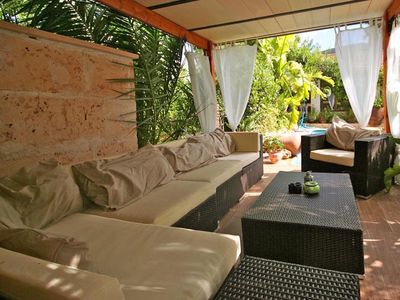 Photo for NEW: Fantastic ground floor apartment with pool right on the beach of Cala Santanyi