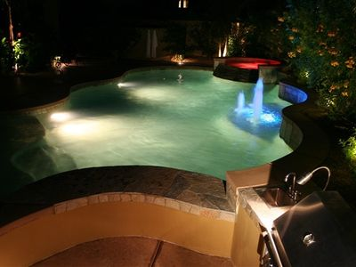 Photo for Private Outdoor Living- Saline Pool/Spa, Swim-up Bar, Theater!