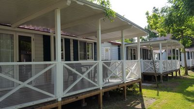 Photo for Mobilehome with internet access and air conditioning in the camping