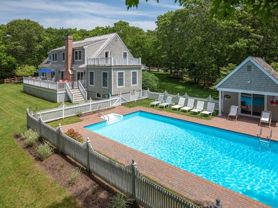 Photo for Perfect family get away - East Hampton Sanctuary  w/ Salt Water Heated Pool.