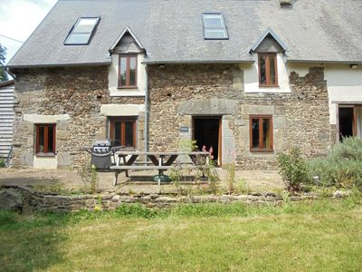 Photo for La Grange a restored former Normandy farmhouse overlooking heated swimming pool