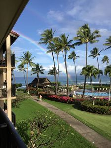 Enjoy rainbow over the ocean from your lanai