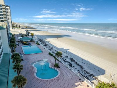 Photo for Oceanview suite with four shared pools, only steps from the beach!