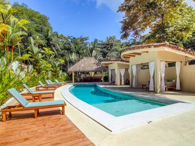 Photo for Villa with shared pool, cabanas & BBQ! Enjoy being surrounded by nature!