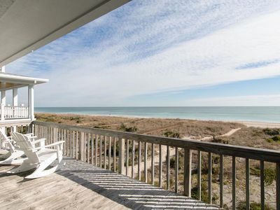 Photo for Top floor oceanfront condo with community dock and boat slip