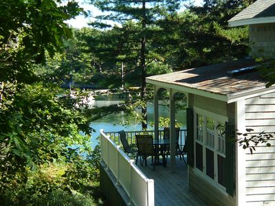 Photo for Waterfront Cottage Sitting On The Water's Edge Of Townsend Gut