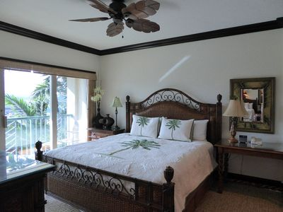 """""""ROMANTIC"""" Hawaiian Theme Master Bedroom with large """"King Bed""""."""
