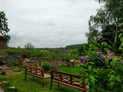 Relax in the garden, sit & enjoy the view across the Derbyshire countryside