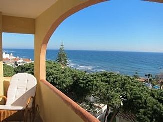 Mediterranean sea view from our balcony