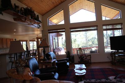 View from family room looking onto covered back deck #1