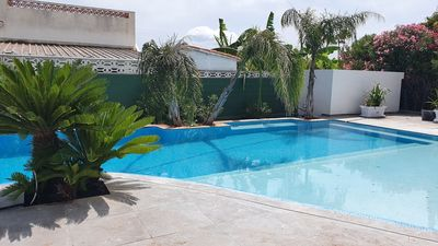 Photo for NEW, nuevo, new !!  Beach house & pool with 5 bedrooms, 4 bathrooms, outdoor kitchen, last minute !!