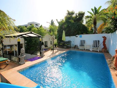 Photo for 6-10 Jul £600, 3 bdr detached villa 80m to sea, own pool, San Pedro/Puerto Banus