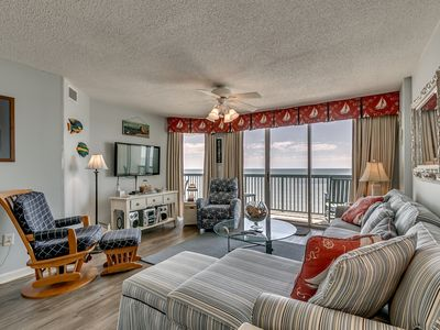 Photo for AshWorth 1808, 3 Bedroom Beachfront Condo, Hot Tub and Free Wi-Fi!