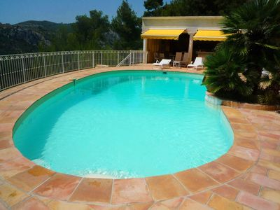 Photo for Luxury villa, swimming pool house, panoramic view of the sea